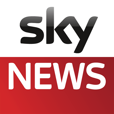 large square sky news logo
